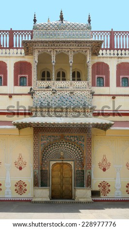 the city palace in Jaipur, located in Rajasthan, India - stock photo