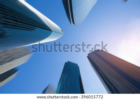 The city's skyscrapers