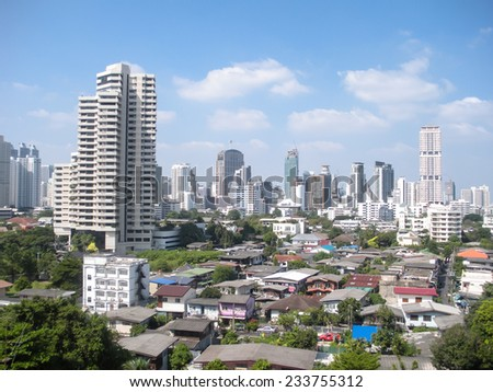 The City view of Bangkok, Thailand