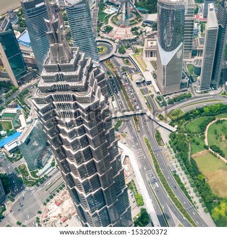The cityscape of Shanghai. - stock photo