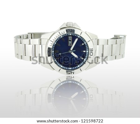 the classic wrist watches with shadow - stock photo