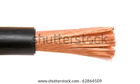 The cleared electric power cable - stock photo