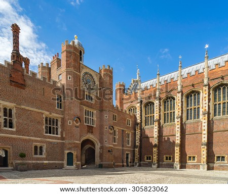 The Clock court of Hampton Court Palace in London England