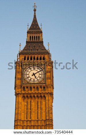 The Clock Tower in London, also called Big Ben, England