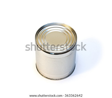 The closed can on a white background
