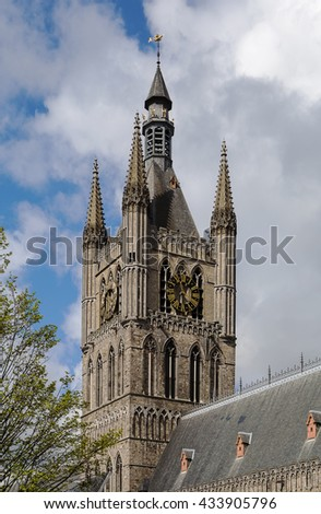 The Cloth Hall is a large cloth hall, a medieval commercial building, in Ypres, Belgium.