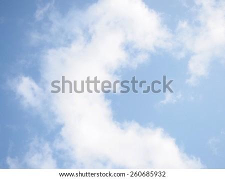 The Cloud Look Like Dragon on the Fresh Sky  - stock photo