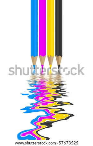 the CMYK colors - stock photo