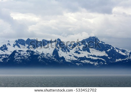 The coast and mountains of Alaska, USA