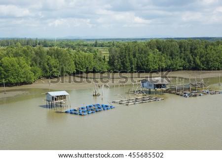 The coast fishery in Thailand - stock photo