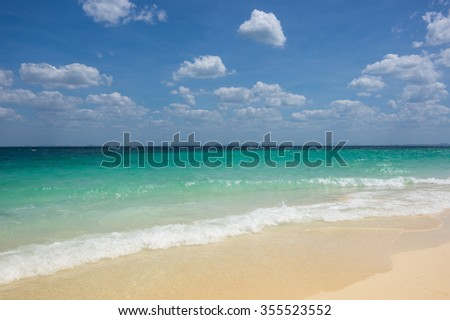The coast of Andaman sea, Krabi province, Thailand - stock photo