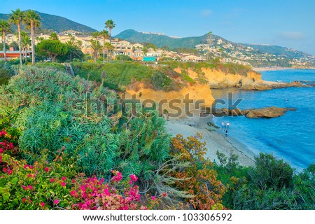 The Coast of Califorina in the Summer - stock photo