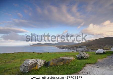 the coast of Ireland - stock photo