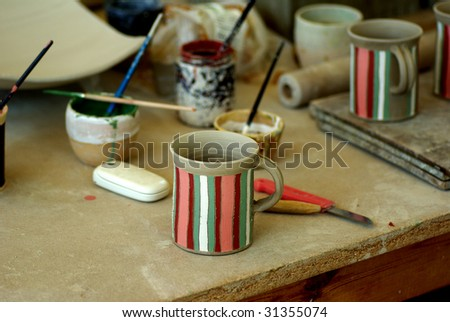 The coffee mug - stock photo
