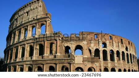 The coliseum of Rome