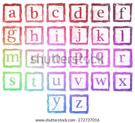 the collection of rubber stamp characters, can easy to combine the letter for various combination of word.