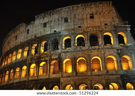 The Colloseum at night - Rome - Italy