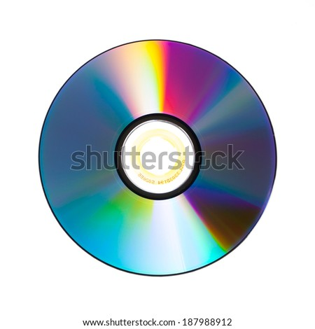 the color of dvd isolated on white background. - stock photo