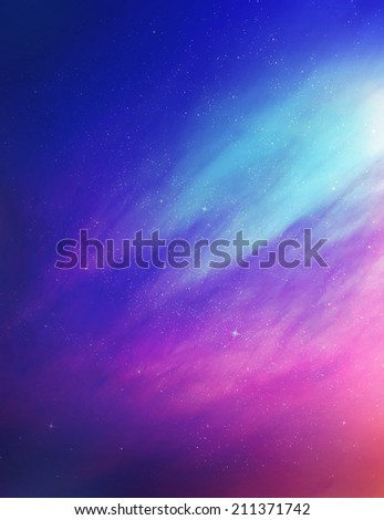 The color sky with clouds, background - stock photo