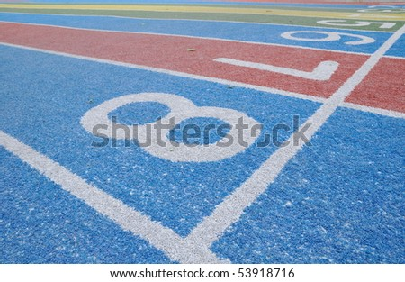 the colored racing field - stock photo