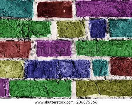 The colored Wall - stock photo