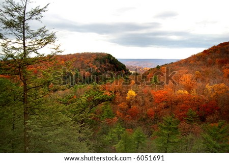the colorful hills of West Virginia in autumn