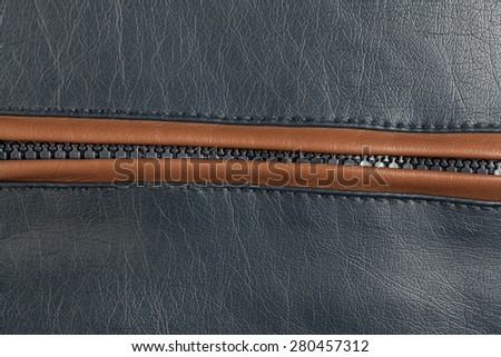 the colorful leather texture and zipper background - stock photo