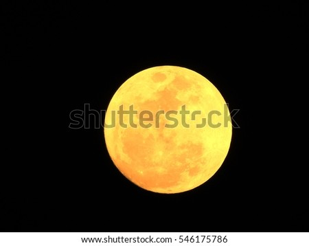 The colorful moon in the dark night