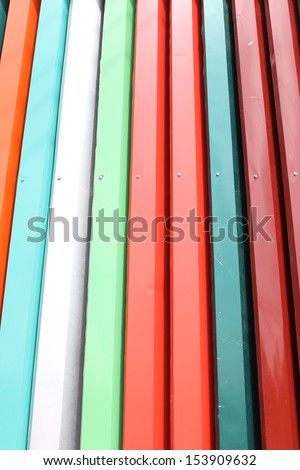 The Colorful roof metal.