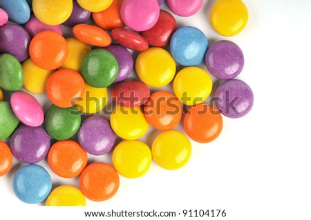 The colors of chocolate candies - background