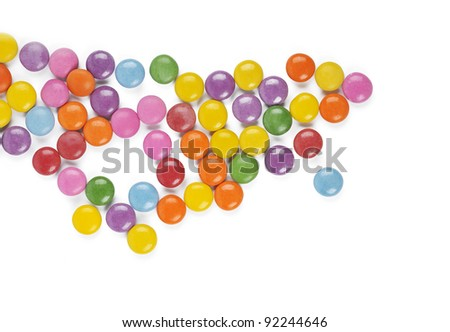 The colors of chocolate candies - background - stock photo