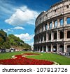 The Colosseum in Rome, Italy - stock photo