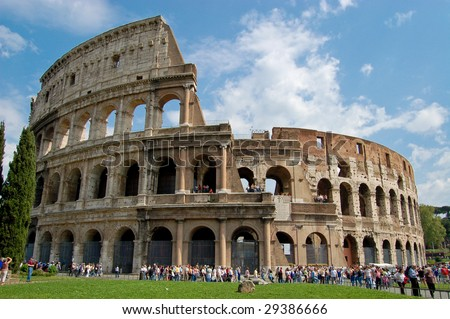 The Colosseum in Rome. Italy - stock photo