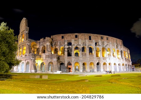 The Colosseum - Rome symbol, Italy - stock photo