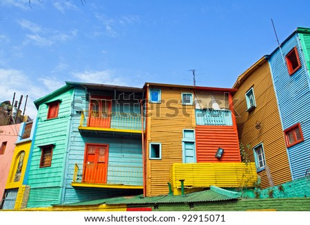 The colourful buildings of La Boca - stock photo