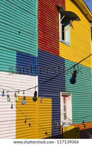 The colourful buildings of La Boca, Buenos Aires, Argentina - stock photo