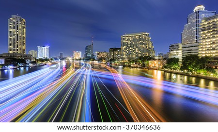 The Colourful of Chao phraya river