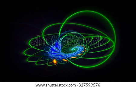 The Comet Trajectory abstract illustration - stock photo