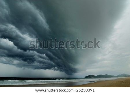 The Coming Storm - stock photo