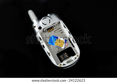the components for a typical cell phone - stock photo