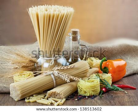 The composition of the pasta