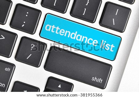 Attendance List Stock Images, Royalty-Free Images & Vectors