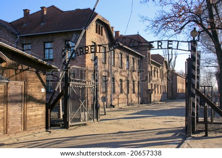 The concentration camp of Birkenau near Cracow in Poland