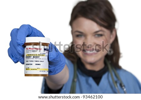 The concept of Laughter is the Best Medicine - stock photo