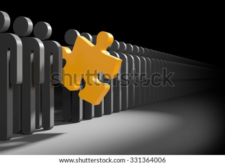 The concept of leadership or the right choice - stock photo