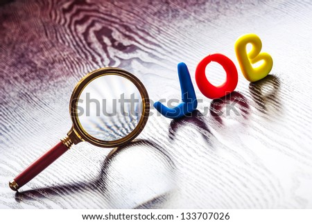 The concept of looking for a job - stock photo