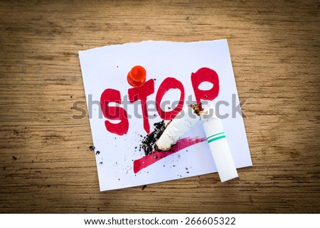 the concept of stopping smoking. - stock photo