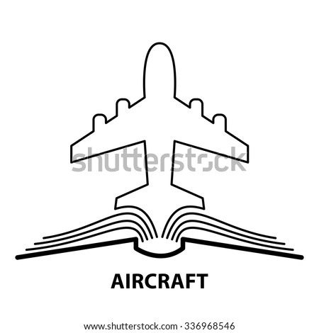 The concept of the book pages and  jet plane. - stock photo
