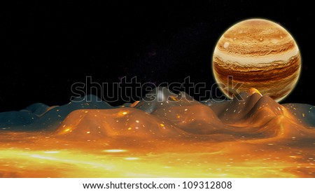 The concept of the planets to the background.