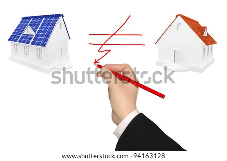 The concept of use of alternative energy sources - stock photo